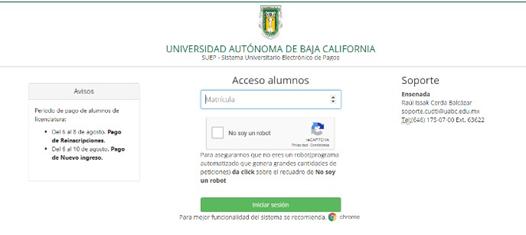 Consultar Recibo De Pago De UABC En Línea