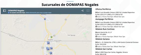 Dónde Ir Para Pagar OOMAPAS Nogales